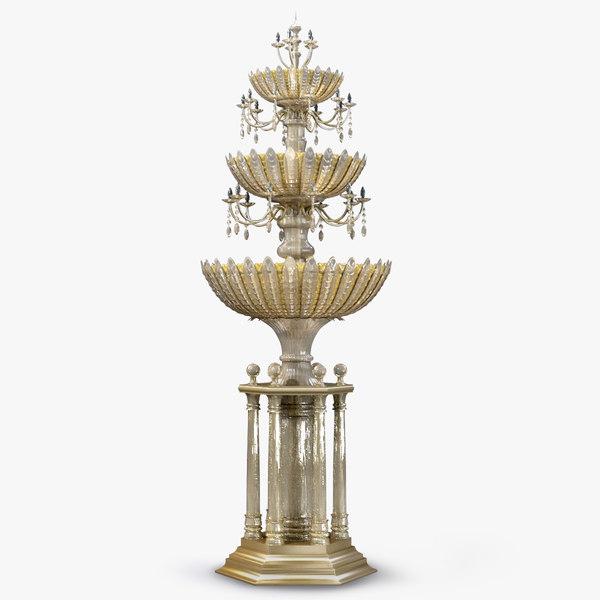 3d model fountain luxury
