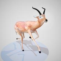 rigged impala obj