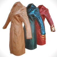 3d leather coat model