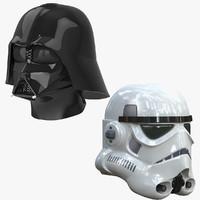 3d model stormtrooper helmet darth vader