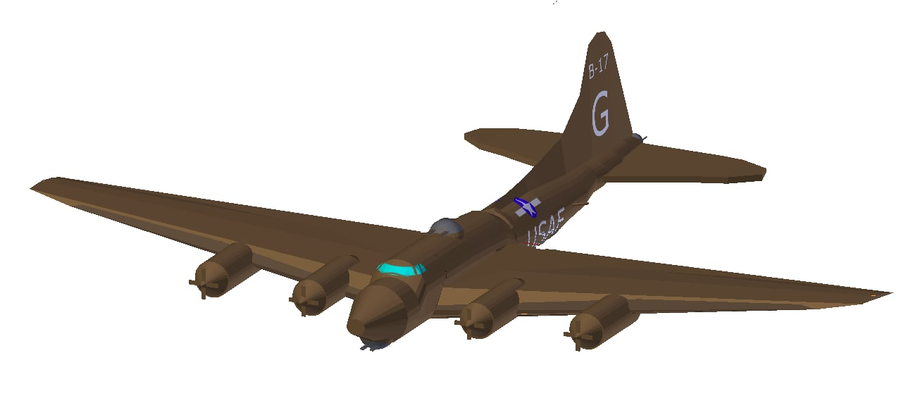 3d model accurate flying fortress