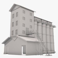 3d dxf industrial building