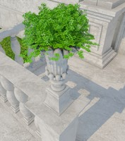 3d vase stone 03 model