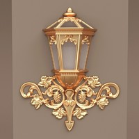 3d model street light classic wall