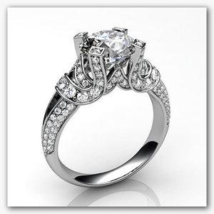 stl ring white gold 3ds