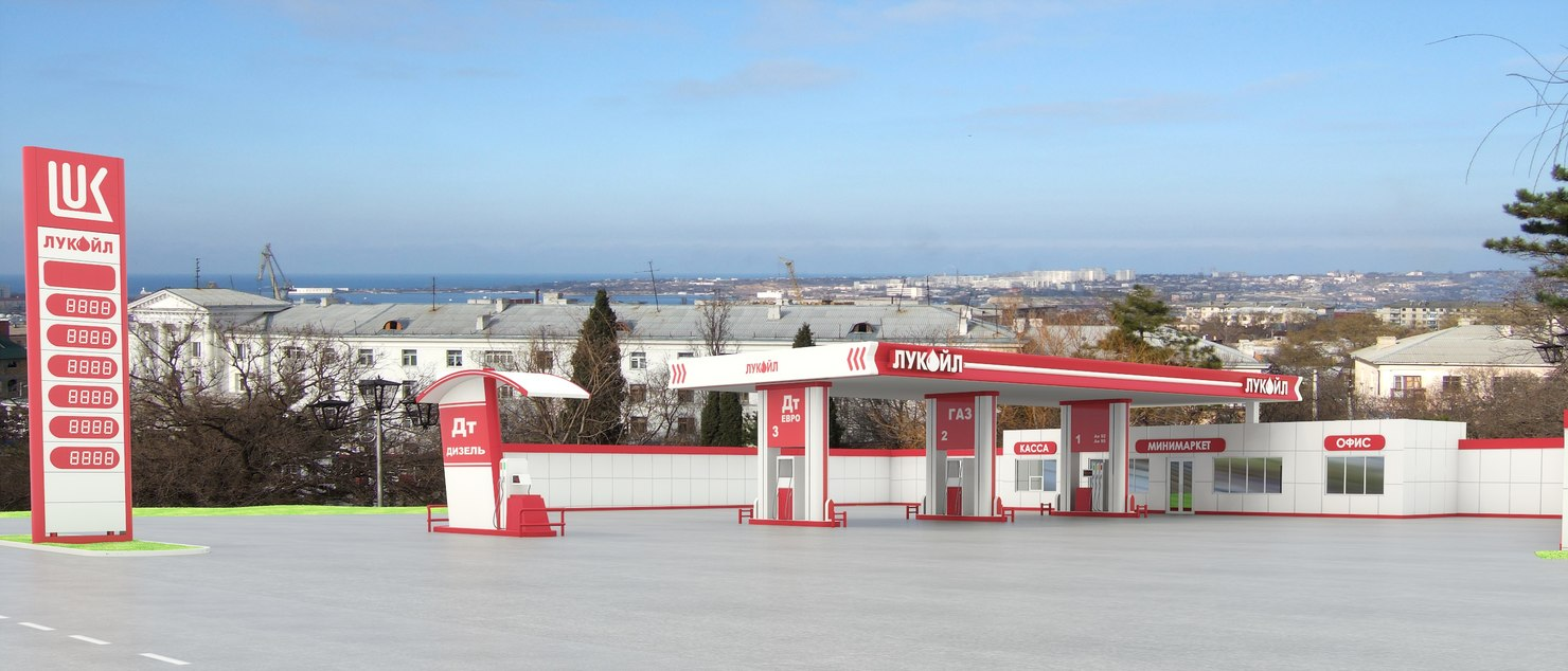 3d model gas station lukoil
