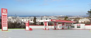 3d model gas station lukoil