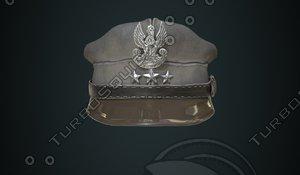 polish officer s cap 3d model