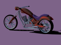 free motorcycle chopper 3d model