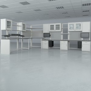 lab furniture typical set 3d obj