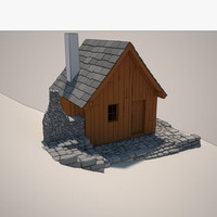 cartoon cottage 3d max