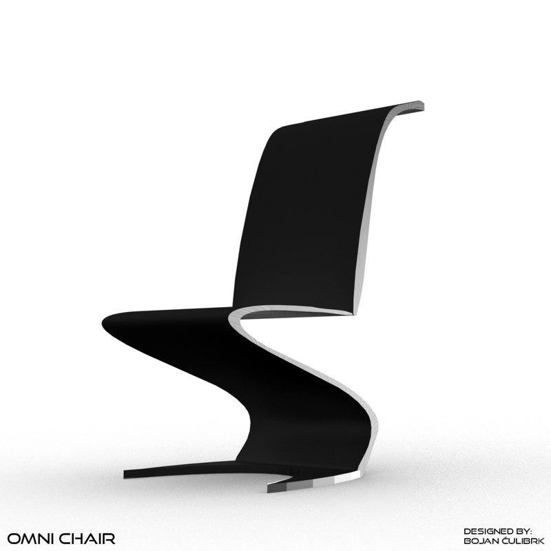 Obj Futuristic Chair Bench Set