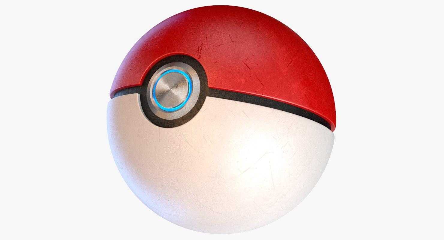 3d pokemon ball