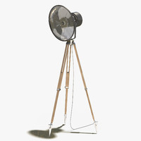 3d floor lamp 1 wood