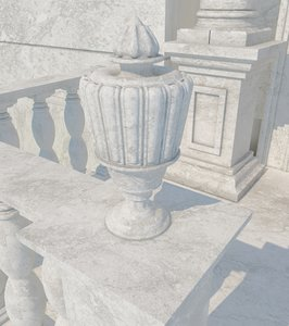 stone vase 06 max