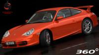 porsche 911 gt3 2004 3d obj