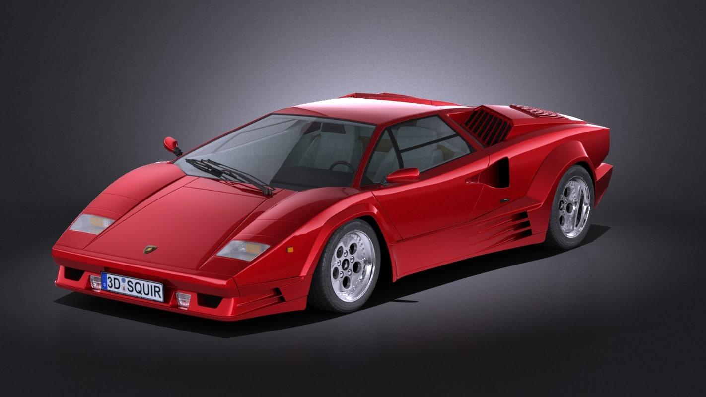 Lamborghini Countach Anniversary 3d Model