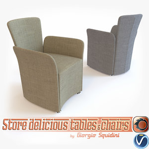 3d model photorealistic chair calligaris nido