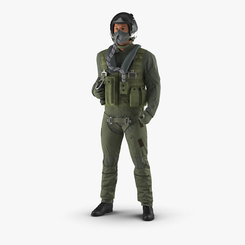 military jet fighter pilot 3d max