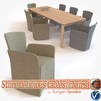 photorealistic chair table calligaris 3d ma