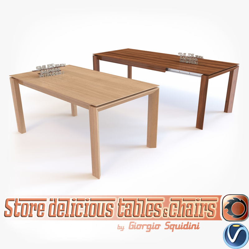 photorealistic table calligaris omnia 3d 3ds