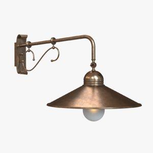 3d max lamp sconce lighting