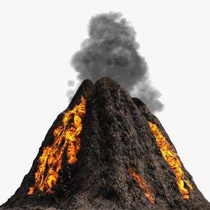 volcano formats 3d model