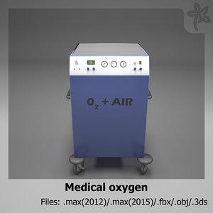 medical oxygen 3d model