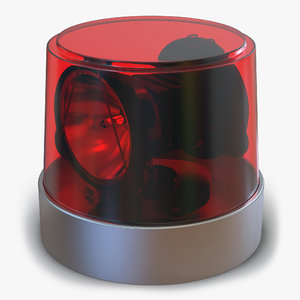 3d warning light red