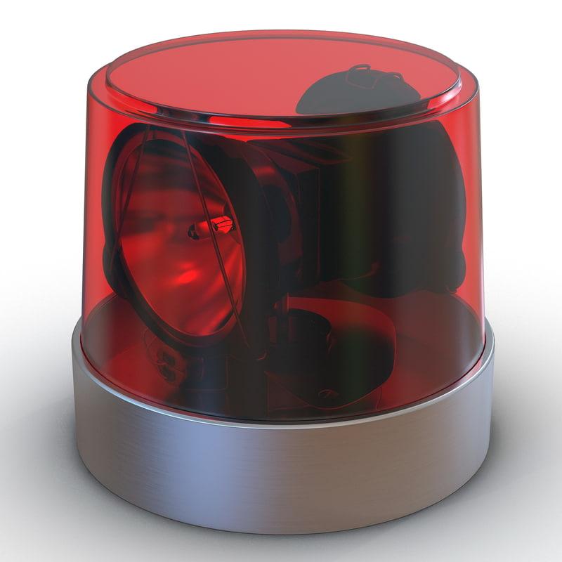 3d warning light red