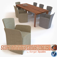 Chair NIDO & Table OMNIA dining set CALLIGARIS _supplemented