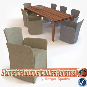 3d model photorealistic chair table calligaris