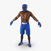 3d african american boxer model