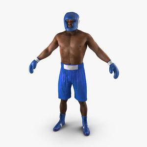 3d african american boxer model
