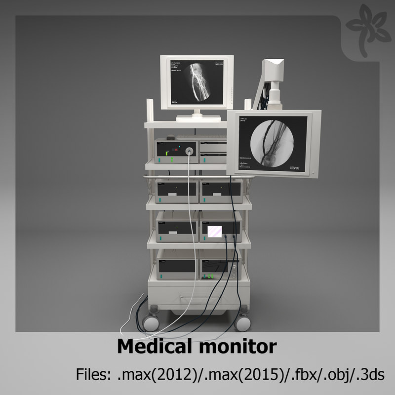 3d medical monitor model