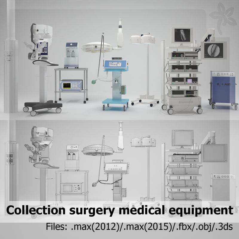 surgery medical equipment 3ds