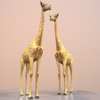 rigged giraffe 3d model