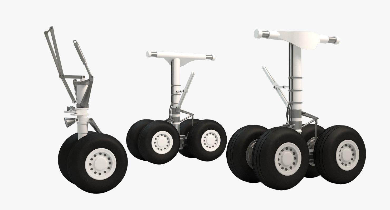 nose landing gear 3d max