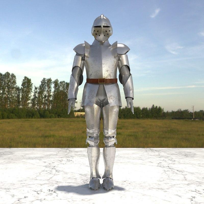 knight armor 1 3d model