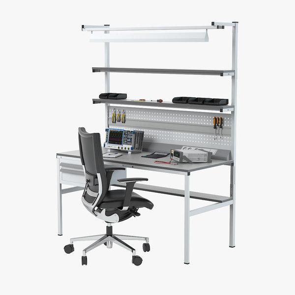 3d model electronics workbench