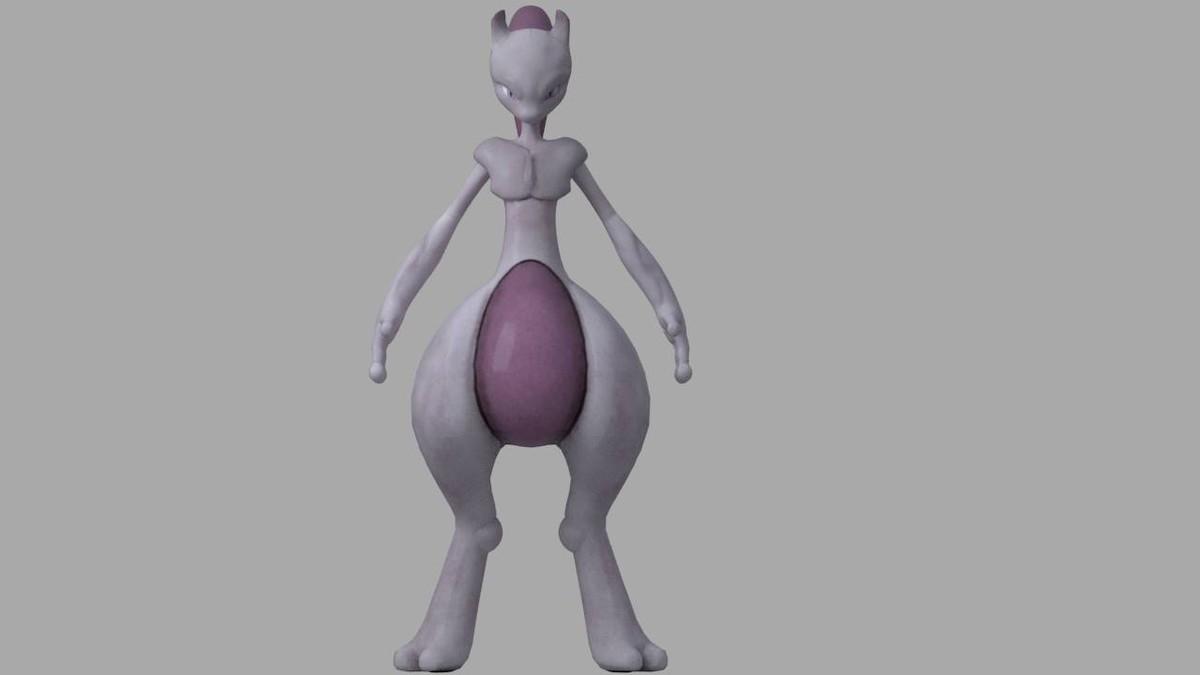 3d mewtwo legendary pokemon