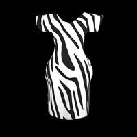 zebra dress 3d max