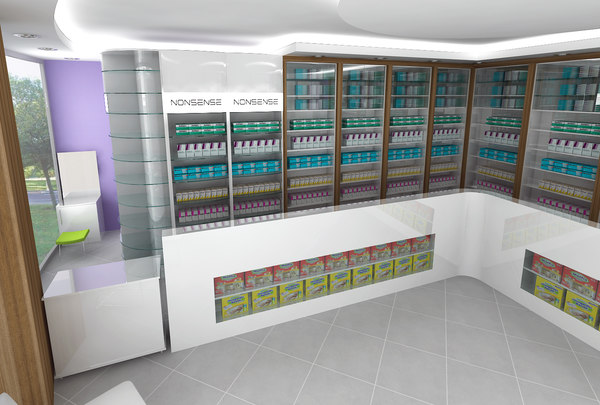 drug pharmacy 3d model