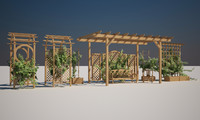 3d garden elements