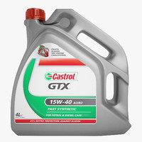 castrol gtx motor 3d max
