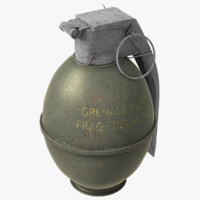 grenade m61 3d model