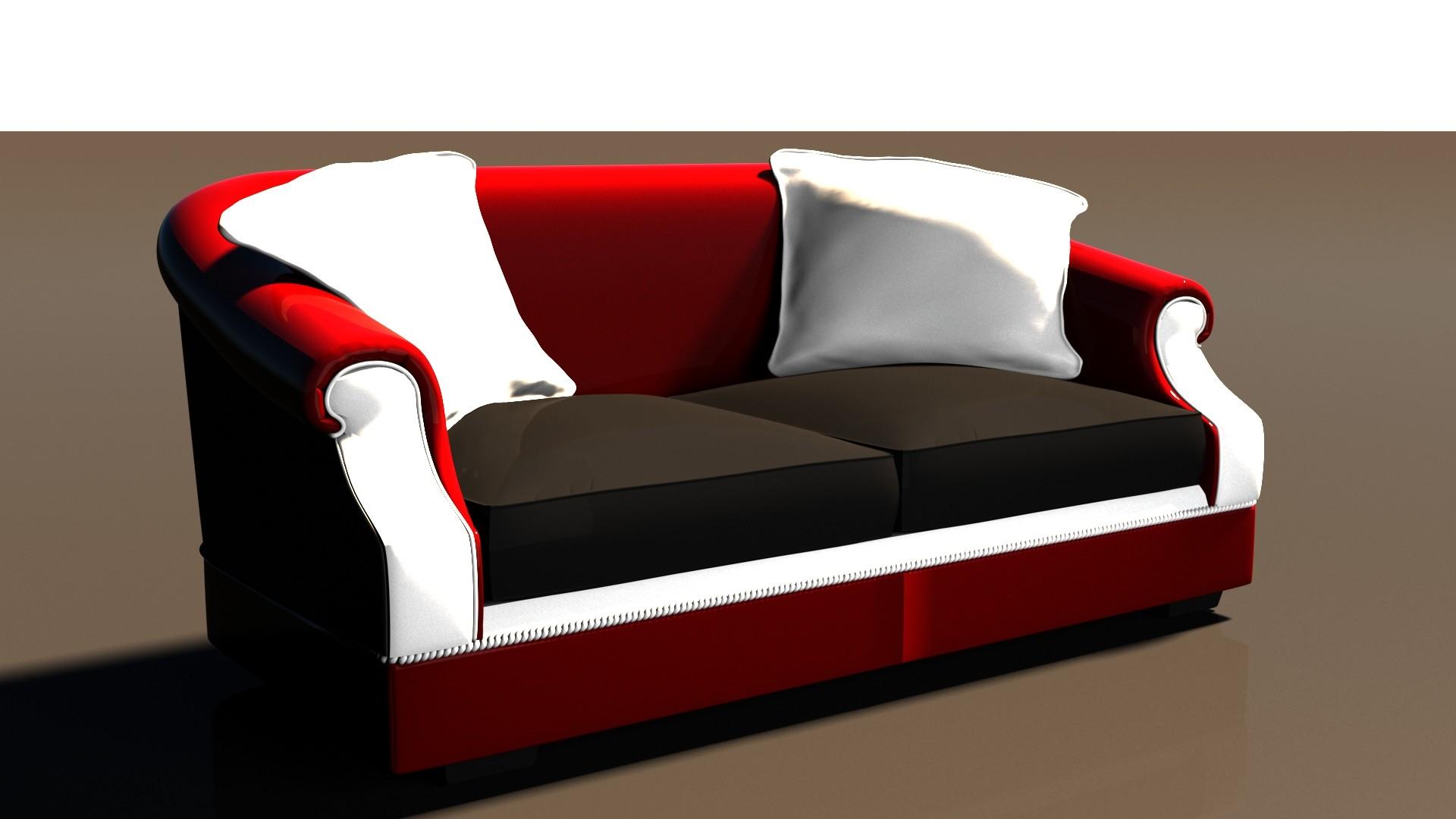 sofa architecture 3d model