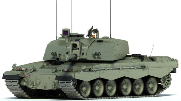 3d model of challenger 2 mbt tank