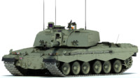 3d model of challenger 2 mbt tank