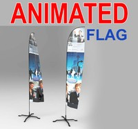 3d advertising flags model